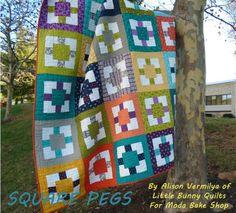 Square Peg quilt | Tute