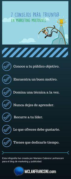 infografia 7 consejos para triunfar con marketing multinivel #infografía