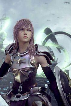 Lightning Final Fantasy Art Anime New Ideas Final Fantasy Girls, Lightning Final Fantasy, Final Fantasy Artwork, Final Fantasy Characters, Female Characters, Lightning Images, Lightning Game, Final Fantasy Collection, Mileena