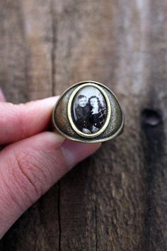 Unisex Personalized Photo Ring  Size 75 Antique by jerseymaids, $32.00