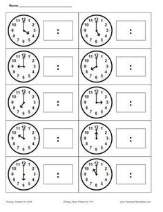 First Grade Math Telling Time Teaching Time, Student Teaching, Math Classroom, Kindergarten Math, Maths, Math Resources, Math Activities, Math Clock, Math Measurement
