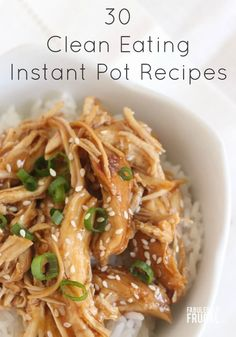 Eat cleaner and quicker with the Instant Pot! With the new year upon us, many of us are looking at ways to get fitter and feel healthier. The first step to this is better eating of course and eating clean just makes you feel better, plain and simple? What is clean eating? Clean eating simply… Read More Healthy Instapot Recipes, Healthy Fast Food, Clean Food Recipes, Instant Pot Easy Recipes, Simple Healthy Recipes, Instant Pot Meals, Instapot Recipes Chicken, Cleaning Recipes, Frugal Recipes