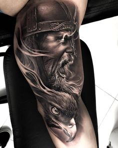 Cool Half Sleeve Tattoo Ideas For Men - Best Half Sleeve Tattoos For Men: Cool Upper Arm, Half Sleeve Tattoo Designs and Viking Tattoo Sleeve, Half Sleeve Tattoos For Guys, Half Sleeve Tattoos Designs, Full Sleeve Tattoos, Tattoo Designs, Angel Sleeve Tattoo, Viking Tattoos For Men, Viking Warrior Tattoos, Forearm Tattoos