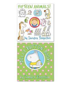 Loving this Fifteen Animals! & Belly Button Book! Board Book Set on #zulily! #zulilyfinds