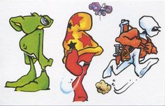 Lizard, Cheech Wizard & Cobalt 60 by Bode