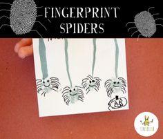 Fingerprint spiders for Halloween.