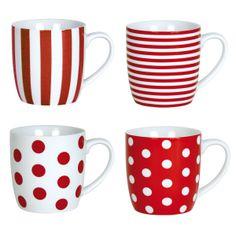 Red mugs #Coffee #Cup #Mugs