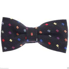 FLATSEVEN Mens Pre-Tied Bow Tie Square Point Woven (YB005) #FLATSEVEN #BowTie