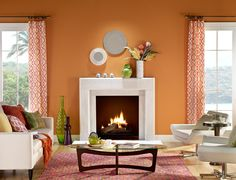 Warm Orange Paint Colors orange and yellow bring feelings of warmth and energy into a room