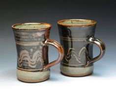 Ray Finch Winchcombe Pottery Mugs Michael Cardew by MugsMostly Work In Africa, St Ives, Pottery Mugs, Mug Cup, Handmade Pottery, Tea Mugs, Glaze, Pots, Drinking