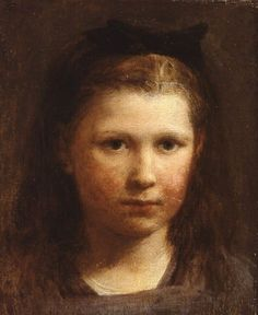 Head of a little girl - Henri Fantin-Latour (1836 - 1904)