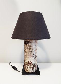 Lampka nocna z pnia brzozy. - Kolorum - Lampki nocne