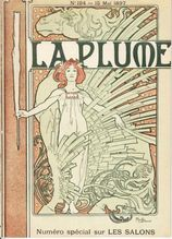 Very Rare Complete French Magazine with Mucha Cover 'La Plume' 1897.