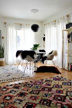 Souk Rug + Pendant from west elm