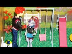 Como fazer parquinho (balanço) para boneca Monster High, Barbie, EAH, etc - YouTube