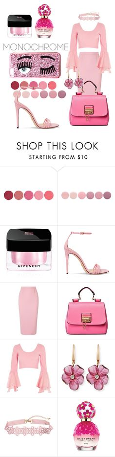 """Pink"" by just-a-dizzy-lizard ❤ liked on Polyvore featuring Kjaer Weis, Deborah Lippmann, Givenchy, Gucci, Roland Mouret, River Island, Rina Limor, Marc Jacobs and Chiara Ferragni"