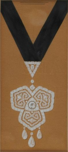 CARTIER. Study for a very important pendant, Garland style. © Sotheby's