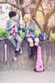 Kazenary Kaori Miyazono, Arima Kousei Cosplay Photo - WorldCosplay