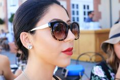Red Lips X Tortoise Glasses | Beauty & the Boss