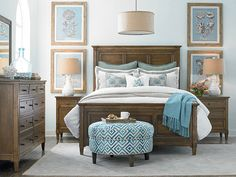 The Commonwealth Panel Bed by Bassett Furniture is inspired by neoclassic furniture of Sweden in the late 18th Century.