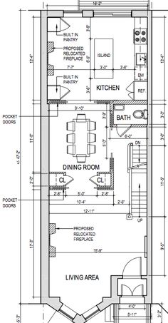 Brownstone row house floor plans google search for Brownstone plans