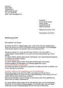 bewerbungsschreiben vorlage - Lebenslauf Schweiz