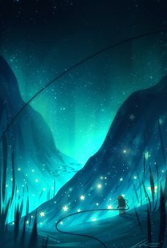 Starfish Art Print by zandraart - X-Small Fantasy Art Landscapes, Fantasy Landscape, Fantasy Artwork, Landscape Art, Anime Scenery Wallpaper, Galaxy Wallpaper, Nature Wallpaper, Wallpaper Backgrounds, Japon Illustration