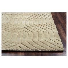 Rizzy Home Technique Collection Hand-Loomed 100% Wool Area Rug, Desert Tan, Durable