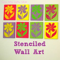 DIY Wall Art with Stencils! Includes free pattern to create your own stencil.