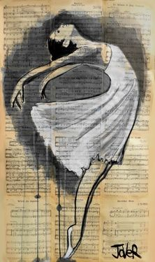 "Saatchi Art Artist Loui Jover; Drawing, ""dancer"" #art"