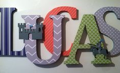 Decorate your childs nursery with these adorable wooden wall letters! These letters will look great sitting on a shelf or a bookcase or hanging on