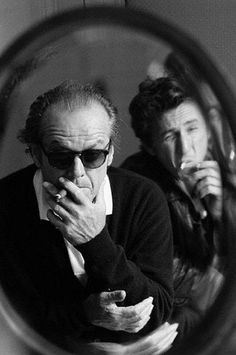 Jack Nicholson, Sean Penn by Annie Leibovitz. What a pair. Sean Penn, Jack Nicholson, Cinema Tv, Famous Faces, Belle Photo, Black And White Photography, Movie Stars, Famous People, Actors & Actresses