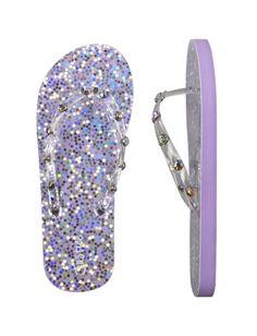 Glitter Rhinestone Flip Flops