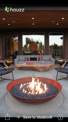 This fire pit was advertised in a magazine I was ready recently, I would have liked one for our pool area. 30 Impressive Patio Design Ideas ideas with fire pit ▷ Ideen für die moderne Terrassengestaltung Diy Fire Pit, Fire Pit Backyard, Backyard Patio, Fire Pits, Backyard Seating, Backyard Projects, Gravel Patio, Outdoor Seating, Backyard Landscaping