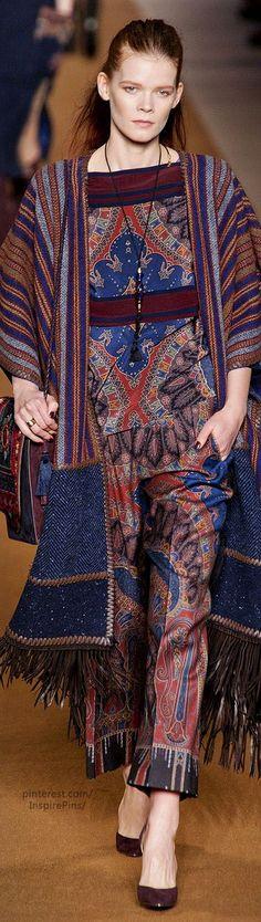 Etro / Fall 2014 / RTW Collection / High Fashion / Ethnic & Oriental / Carpet & Kilim & Tiles & Prints & Embroidery Inspiration /