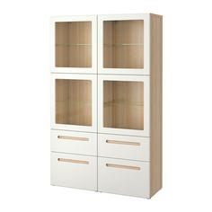 BESTÅ Storage combination w glass doors IKEA The drawer and doors close silently and softly, thanks to the integrated soft-closing function.