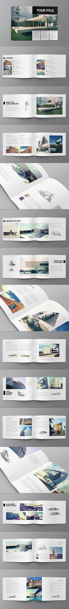 Minimal Architecture Brochure on Behance