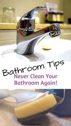 Never Clean your bathroom Bathroom cleaning tips. Bathroom Cleaning Hacks, House Cleaning Tips, Car Cleaning, Deep Cleaning, Tiffany, Homemade Cleaning Products, Good Housekeeping, Bathroom Furniture, Bathroom Ideas