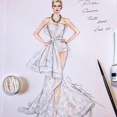 Christian Dior Couture Fall 2008 gown @Dior @JGalliano (@copicmarker, @fabercastellglobal artist pens, @staedtlerdeutschland pens, etc on @xpress_it blending card) #handdrawn #sketch #dior #christiandior #couture #hautecouture #johngalliano #gown #sketching #illustration #art #paris #worldofartists #luxury #dress #платье #рисунок #miniature #portrait #event #vintage #evening #bridal #nataliazorinliu #copicmarkers #bride #followme #fashionista #wedding #instafashion