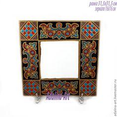 Купить СОКРОВИЩЕ ТАИС зеркало - зеркало, зеркало настенное, зеркало ручной работы, золотой, бирюзовый