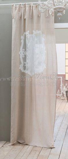 """Tendone misto lino serie """"Isolde"""" Blanc Mariclò - SUPER SCONTO -"""