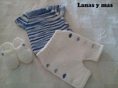 Lanas y más blog: Conjuntito para recién nacido