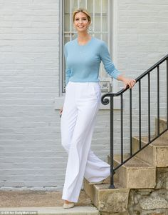 Ivanka Trump flashed her megawatt smile as she stepped out of her Washington, D.C. home on Wednesday morning