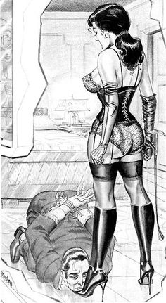 Lick her boots comic