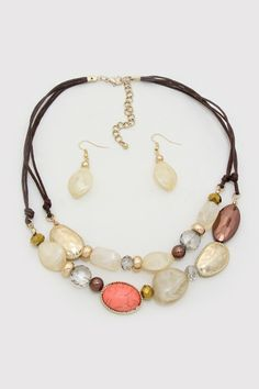 Tia Necklace in Natural Softness on Emma Stine Limited  $58