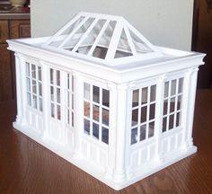 luxuriöser Wintergarten, Orangerie - weiss - Miniatur 1:12 Puppenhaus | eBay