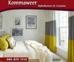Lighten up your home with custom-made curtains in the colour and fabric of your choice from #KommaweerUpholsterers. Contact us on 044 870 7510. #curtains #decor