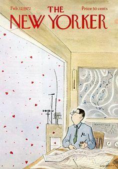 James Stevenson : Cover art for The New Yorker, 12 February 1972