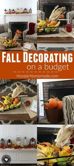fall decorating on a budget. Black Bedroom Furniture Sets. Home Design Ideas