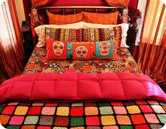 Day of the Dead Bedroom Set